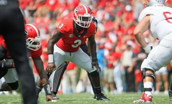Georgia inside linebacker Roquan Smith (3)(Photo by Jim Hipple)