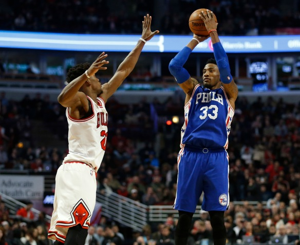 NBA: Philadelphia 76ers at Chicago Bulls